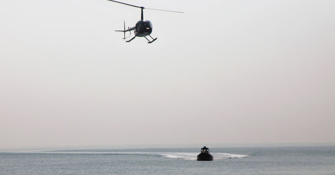 Boat and Helicopter